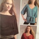 McCalls Sewing Pattern 5520 Ladies Misses Pullover Tunics Sash Size L-XL Uncut