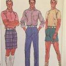 "Simplicity Sewing Pattern 7671 Mens Pants Shorts Waist Size 44"" Uncut Fuss Free"