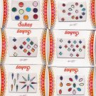 Bollywood Bindis - 6 sheets 75 Bindis -all occasions Mix color  bindi Fancy
