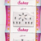 Bollywood Bindis -Total 3 sheets -42 Bindis -all occasions assorted white  bindi