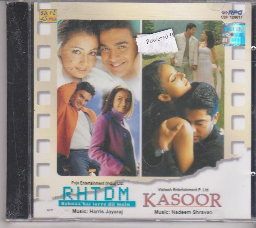 Kasoor / RHTDM     [Cd] Music : Harris jayaraj / nadeem Shravan