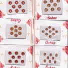Bollywood Bindis -Total 6 sheets 48 fancy bindis -Assorted design and maroon