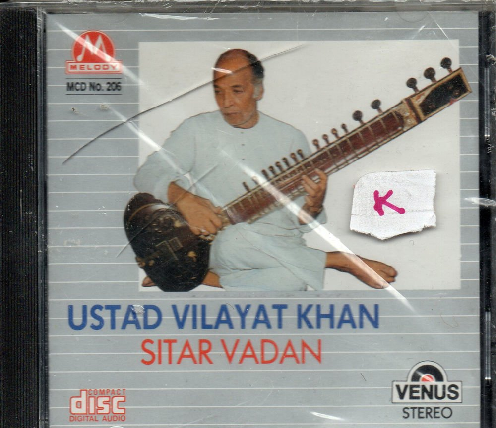 Ust Vilayat Khan - Sitar vadan  [Cd ] Melody released UK Made Cd