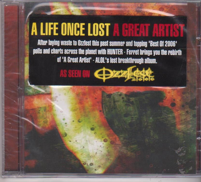 Great Artist by A Life Once Lost  [Cd]