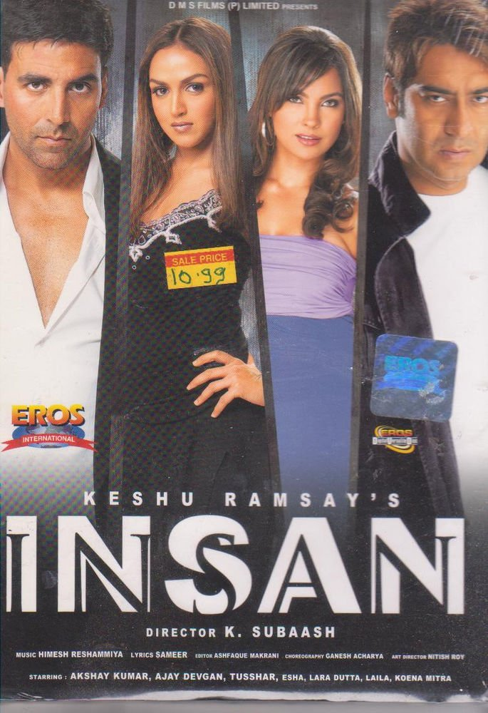 Insan - Akshay Kumar , Esha Deol , Lara dutta , Ajay Devgan  [Dvd]