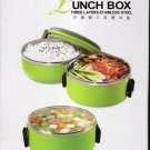 3  Layer Lunch Box -multilayer Insulated -2100 ML Height 81/2 inch -Steel Made