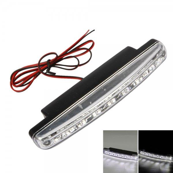 2pcs 8 LED Universal Car Super White Daytime Running Light