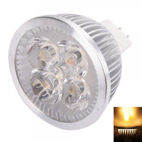 MR16 4W 4 LED 320 Lumen Warm White Light LED Spotlight Energy Saving Bulb (12V)