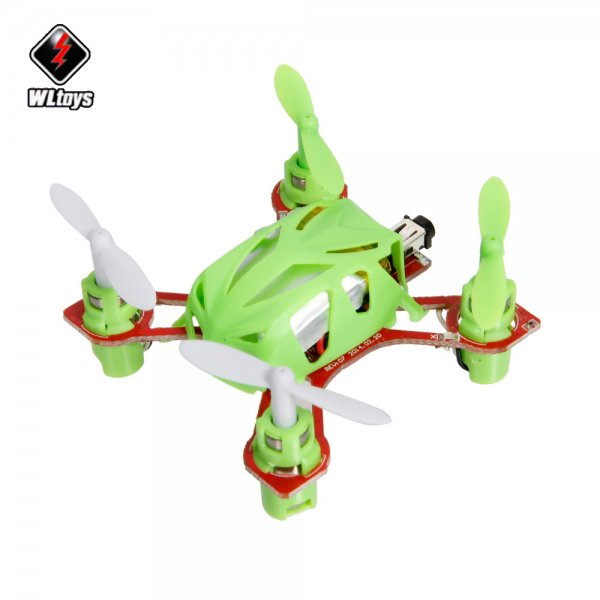 World's Smallest Wltoys V272 2.4G 4CH 6 Axis Nano RC Quadcopter with Big Transmitter RTF Green