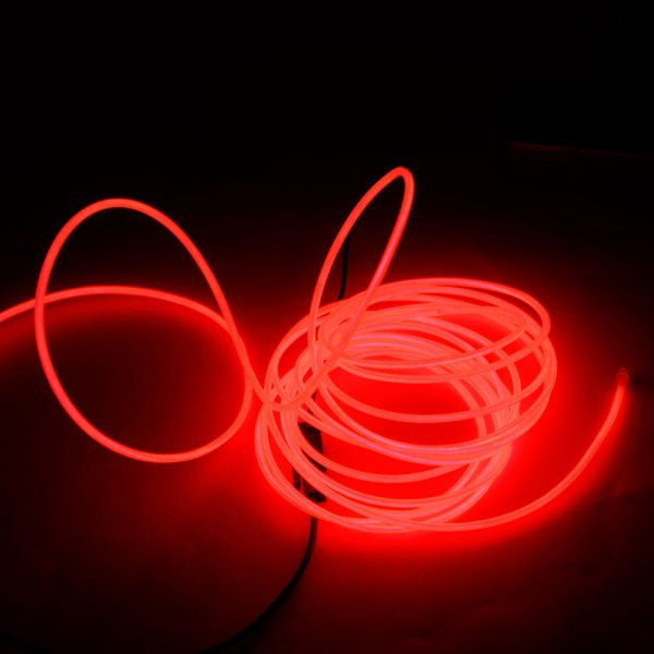 DY LED Flexible Lamp 3M 2-3mm Steel Wire Rope LED Strip with Controller Red