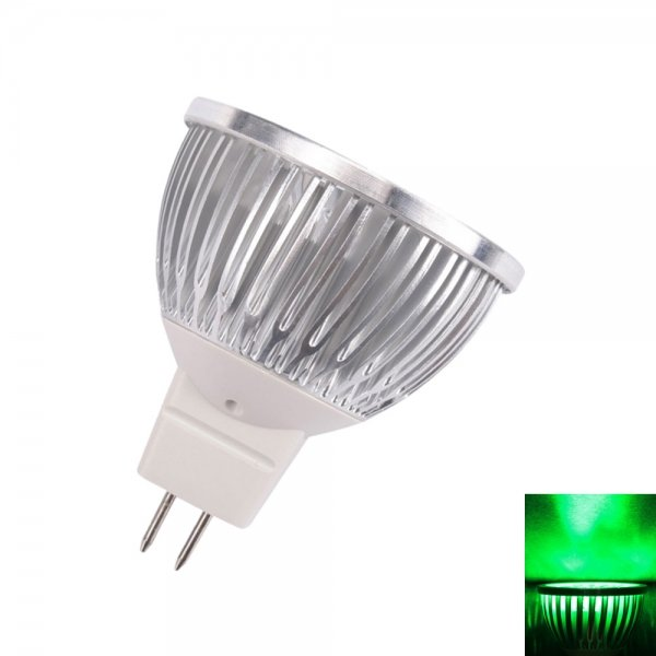MR16 4W 4 LED 240 Lumen Green Light Spotlight Lamp (12V)