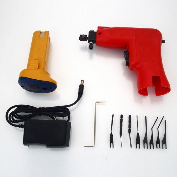 10pcs AML020023 6V High Speed Electric Gun Shape Tungsten Steel Plastic Lock Pick Tool Set