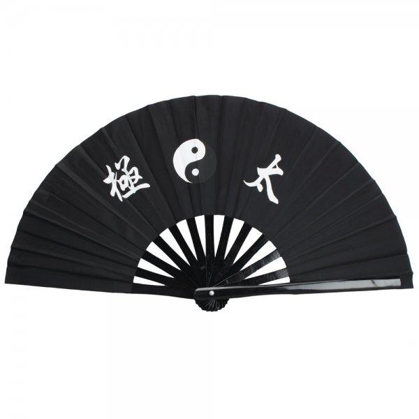 35cm Bamboo Tai Chi Fan Black