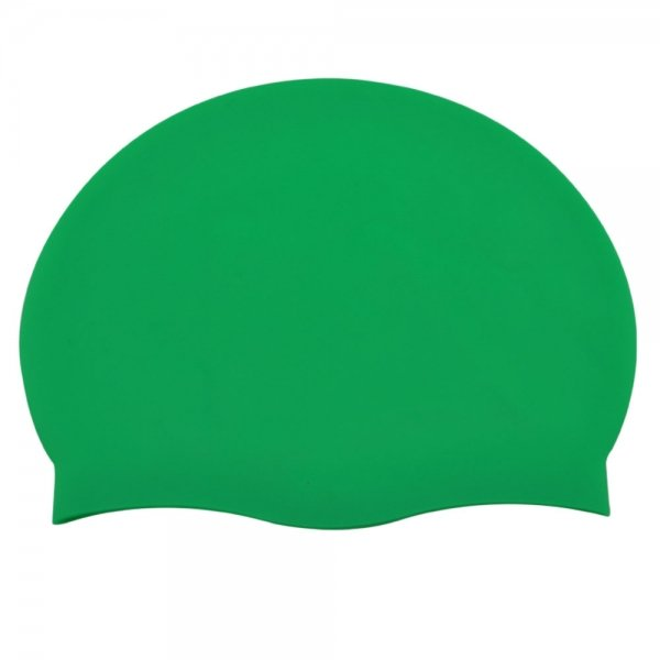 Pure Color Silicone Adult Swimming Cap Green