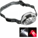 6 LED 3 Mode 1200 Lumen Super Bright Headlamp Light Black