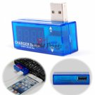 USB Port Power Charger Current Voltage Reader Meter Tester Detector 3.5V-7.0V 0A-3A Blue