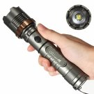 Cree XM-L T6 2000LM 3 Modes Waterproof Lotus Head LED Flashlight Suit Gray