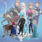 6pcs Cartoon Frozen Doll Models Garage Kit Doll Toy Multicolor