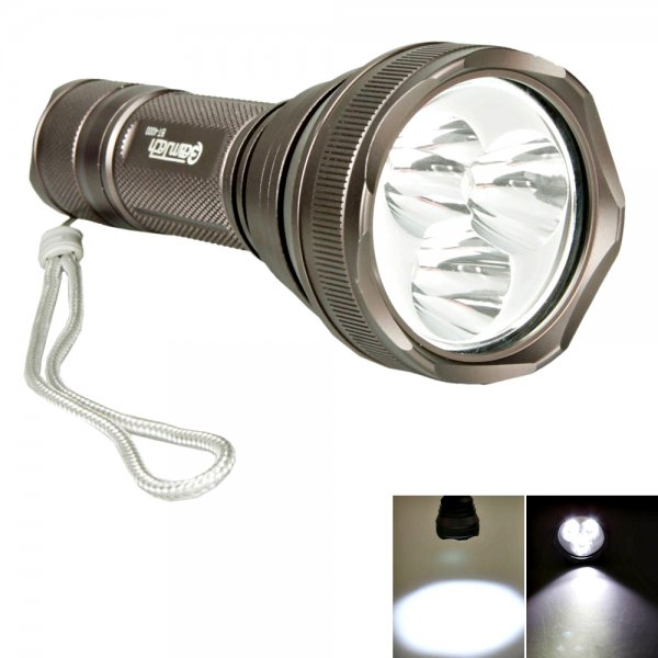 BeamTech BT-4000 CREE XM-T6 18W 2700LM 5 Mode Flashlight Torch Gray