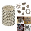 216pcs 5mm DIY Buckyballs Neocube Magnetic Beads Puzzle Toy Silver White