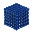 216pcs 3mm DIY Buckyballs Round Shape Neocube Magnet Toy Magic Ball Blue