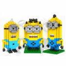 LOZ-9161 620pcs Minions Mini Diamond Building Blocks Set DIY Educational Toy