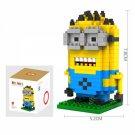 LOZ-9161 260pcs Minions Dave Design Plastic Mini Diamond Building Blocks Set DIY Educational Toy