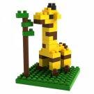 60pcs LOZ 9279 Animal Series Giraffe Plastic Mini Diamond Building Blocks Set DIY Educational Toy