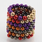 125pcs 5mm Buckyballs Neocube Magic Beads Magnetic Toy Purple & Black & Red & Orange & Golden