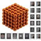 125pcs 5mm DIY Buckyballs Neocube Magic Beads Magnetic Toy Orange