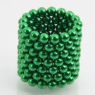 125pcs 5mm DIY Buckyballs Neocube Magic Beads Magnetic Toy Green