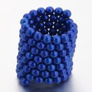 125pcs 5mm DIY Buckyballs Neocube Magic Beads Magnetic Toy Dark Blue