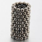 125pcs 5mm DIY Buckyballs Neocube Magic Beads Magnetic Toy Silver Black