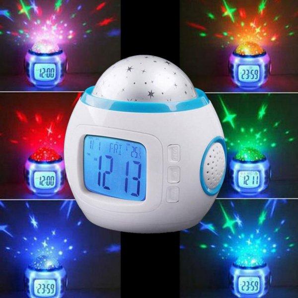 Stars Starry Sky Music 3rd Generation Alarm Clock Projector Backlight Calendar Thermometer