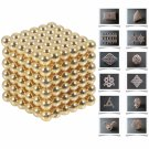 216pcs 5mm DIY Buckyballs Neocube Magnetic Beads Puzzle Toy Gold