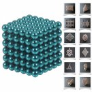 216pcs 5mm DIY Buckyballs Neocube Magnetic Beads Puzzle Toy Light Blue