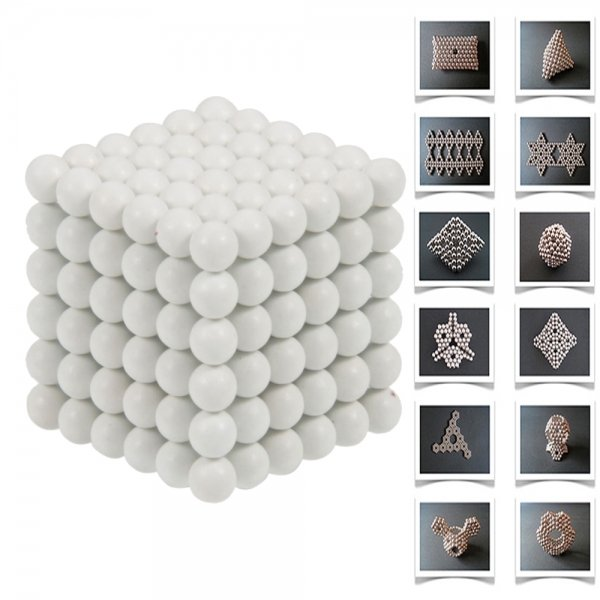 216pcs 5mm DIY Buckyballs Neocube Magnetic Beads Puzzle Toy White