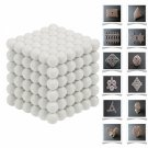 216pcs 5mm DIY Buckyballs Neocube Magic Beads Magnetic Toy Milky
