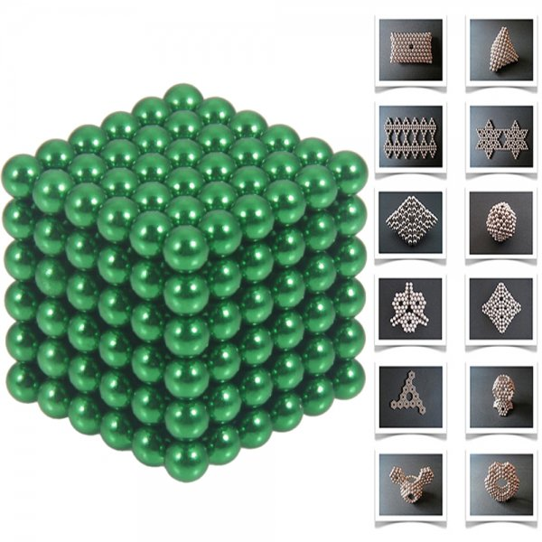 216pcs 5mm DIY Buckyballs Neocube Magnetic Beads Puzzle Toy Green