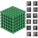 216pcs 5mm DIY Buckyballs Neocube Magic Beads Magnetic Toy Green