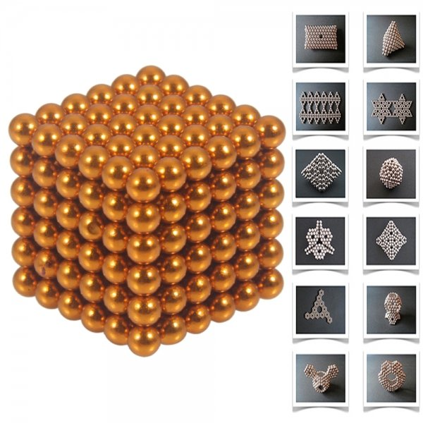 216pcs 5mm DIY Buckyballs Neocube Magic Beads Magnetic Toy Orange
