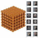 216pcs 5mm DIY Buckyballs Neocube Magnetic Beads Puzzle Toy Orange