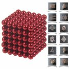 216pcs 5mm DIY Buckyballs Neocube Magic Beads Magnetic Toy Red