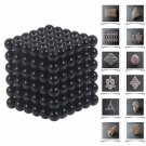 216pcs 5mm DIY Buckyballs Neocube Magnetic Beads Puzzle Toy Black