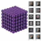 216pcs 5mm DIY Buckyballs Neocube Magic Beads Magnetic Toy Purple