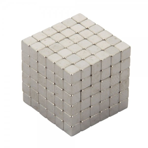 216pcs 3mm DIY Buckyballs Cube Shape Neocube Magnet Toy Silver