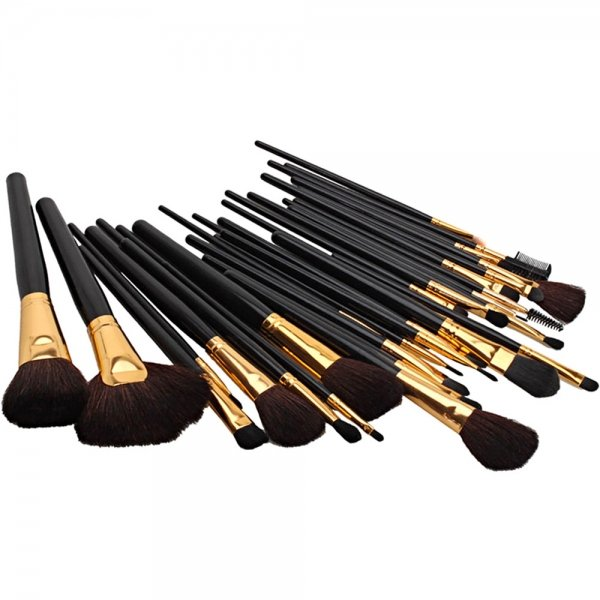 32pcs Professional Cosmetic Makeup Brush Set with Case Golden