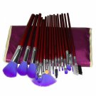 16pcs Professional Cosmetic Makeup Brush Set with Bag Purple