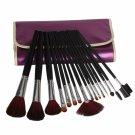 16pcs Natural Animal Hair Cosmetic Makeup Brush Set Purple
