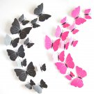 3D Butterfly Wall Stickers 12pcs Butterflies Art DIY PVC Decorations fridge magnet Wall Decals
